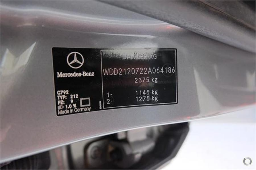 2009 Mercedes-Benz E 500 Sedan