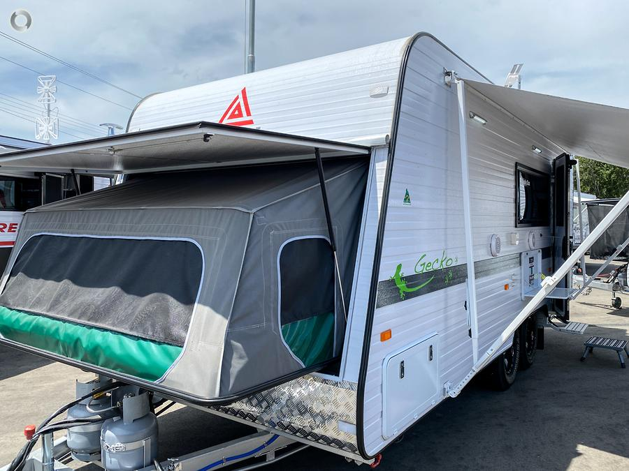 2019 New Age Gecko Family 18BES2 Comfort, 3x Bunk GE18BES2