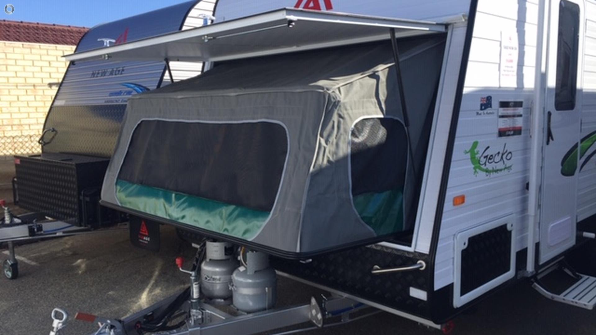 2018 New Age Gecko 16 bunk family Caravan GE16BE